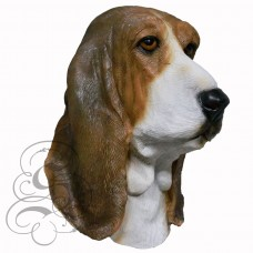 Latex Bassett Hound Dog Mask